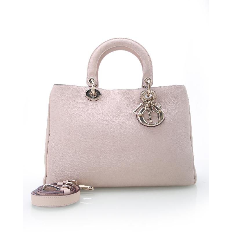 迪奥手提包 闲鱼优品Christian Dior8.5新Diorissimo牛皮小号淡粉色手提包521_推荐淘宝好看的迪奥手提包