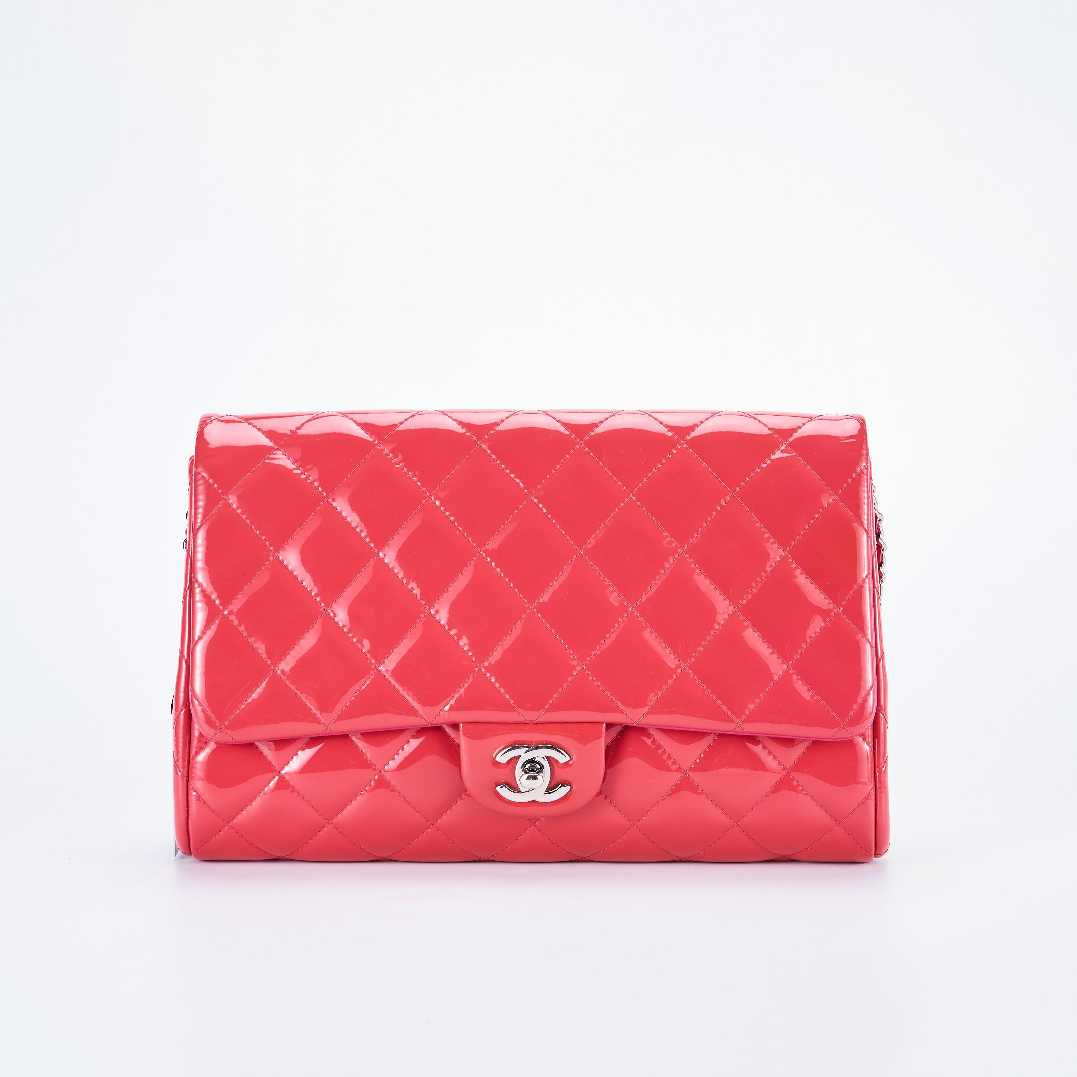 chanel链条包 临时【95新】Chanel香奈儿 漆皮链条包 公价¥15900_推荐淘宝好看的chanel链条包