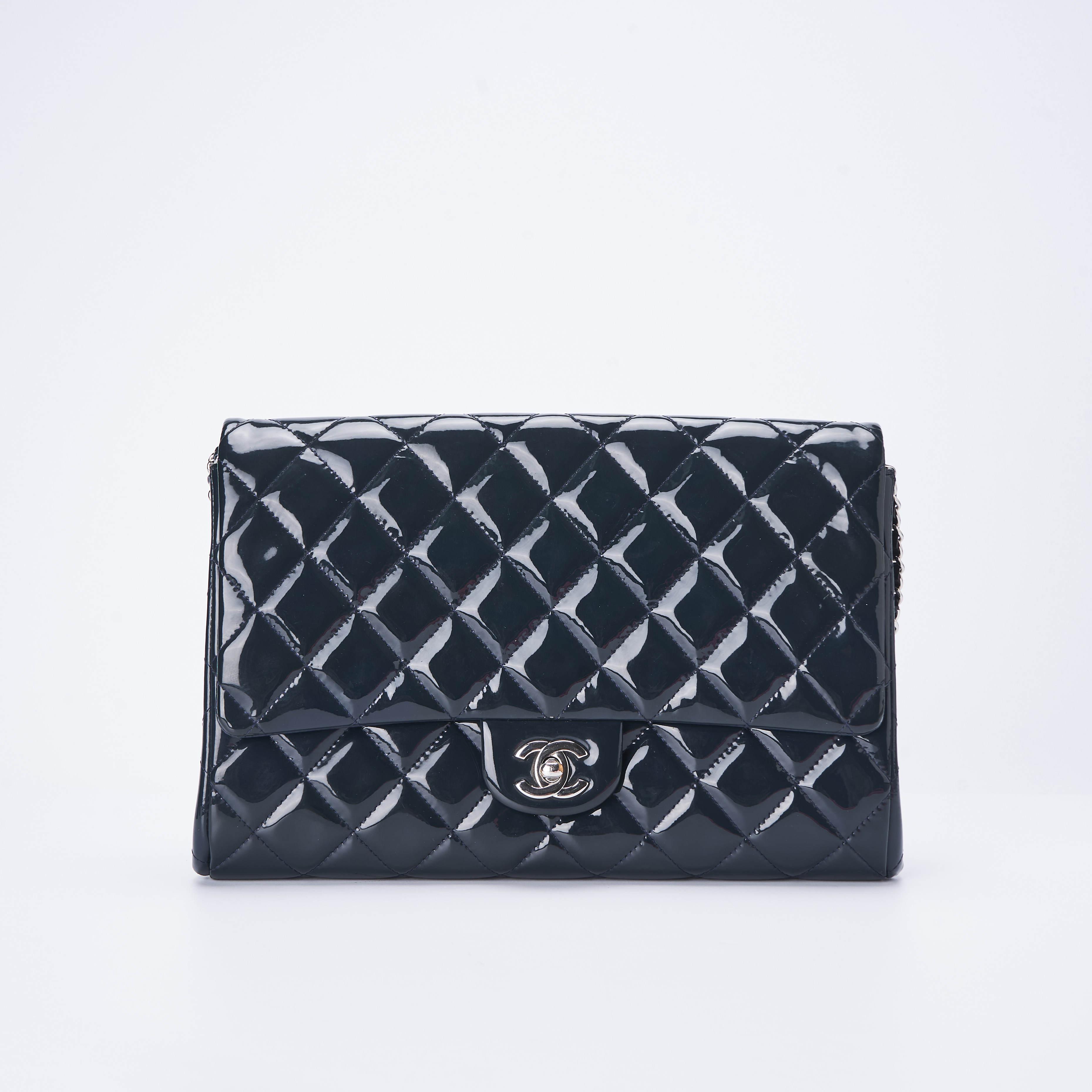 chanel链条包 【95新】Chanel香奈儿 漆皮链条单肩包 28*17*3 公价¥35000_推荐淘宝好看的chanel链条包