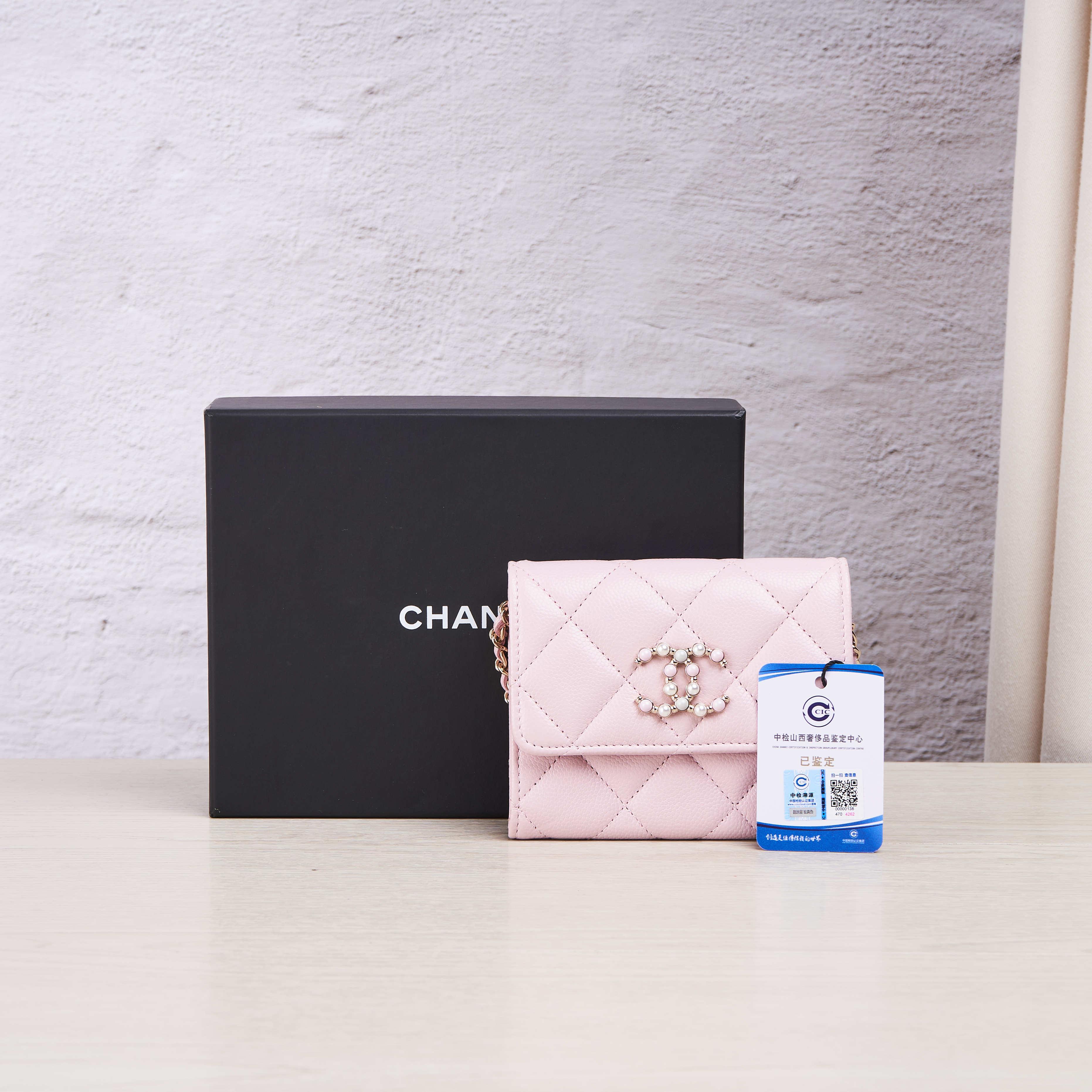chanel链条包 临时【95新】Chanel香奈儿 粉色链条包mini  公价¥12000_推荐淘宝好看的chanel链条包