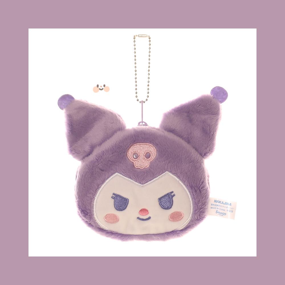 紫色钱包 2021紫色库洛米零钱包日系小恶魔小包包耳机包卡片口红糖果小物收_推荐淘宝好看的紫色钱包