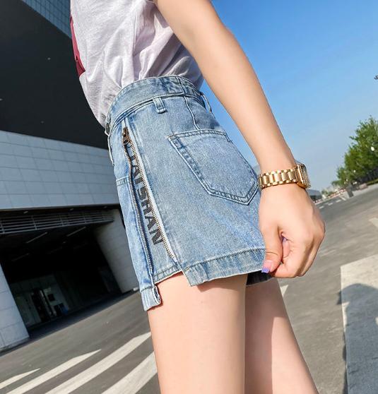 牛仔短裤 牛仔短裤女夏宽松2020新款阔腿时尚网红ins超火薄款直筒高腰显瘦_推荐淘宝好看的女牛仔短裤