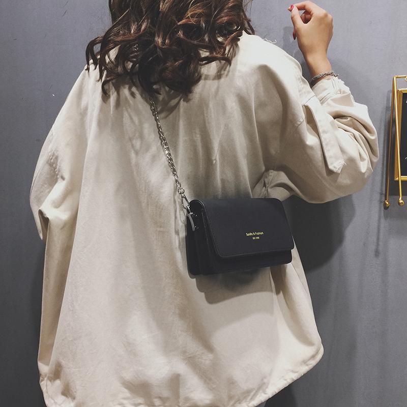 磨砂皮女包链条包 感法国小众包包女包2020新款潮时尚洋气磨砂真皮链条斜挎包包_推荐淘宝好看的磨砂皮女包链条包