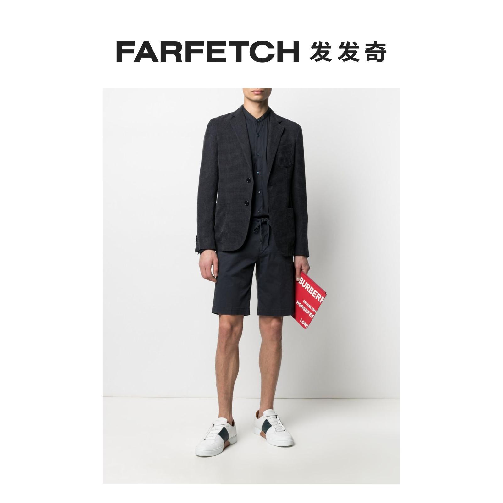 阿玛尼男士西装 Giorgio Armani阿玛尼男士图案单排扣西装夹克FARFETCH发发奇_推荐淘宝好看的阿玛尼男西装