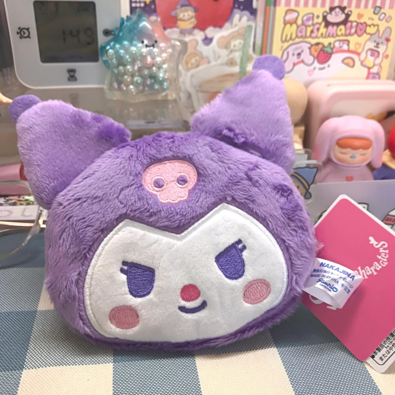 紫色糖果包 紫色库洛米零钱包日系小恶魔小包包耳机包卡片口红糖果小物收纳_推荐淘宝好看的紫色糖果包