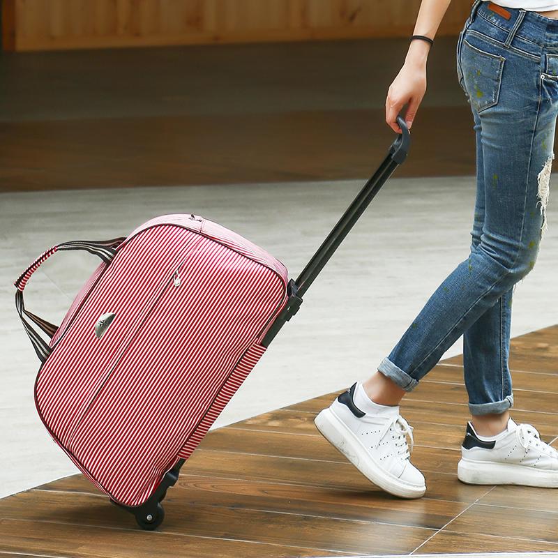 彭丽媛手提包 拉杆包行李包拉杆女手提旅行包大容量登机包男款短途旅游包手拖包_推荐淘宝好看的女手提包