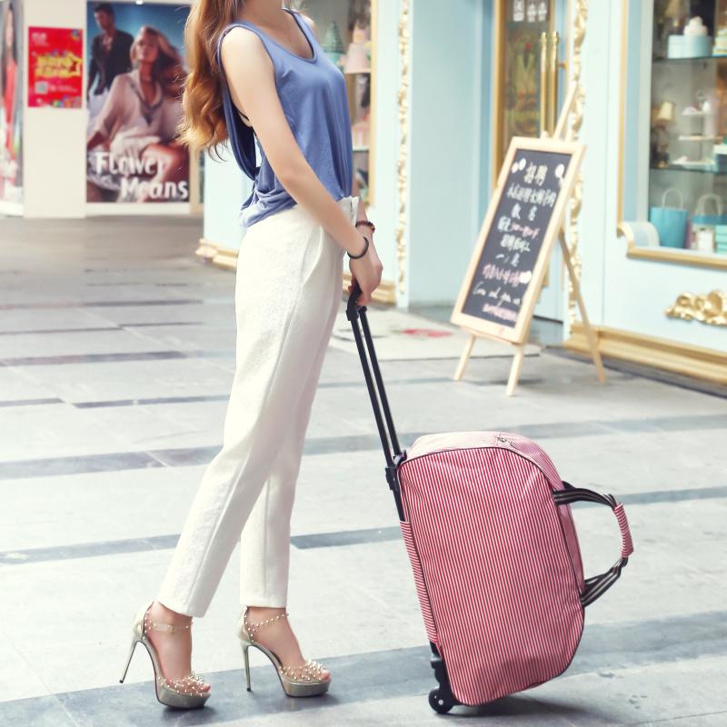 彭丽媛手提包 旅行包女手提拉杆包大容量带轮子行李包旅行袋待产包防水可折叠潮_推荐淘宝好看的女手提包