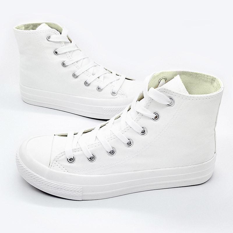 涂鸦帆布鞋 可涂鸦纯白色高帮帆布鞋白鞋女纯色经典基本款手工diy手绘空白鞋_推荐淘宝好看的女涂鸦帆布鞋