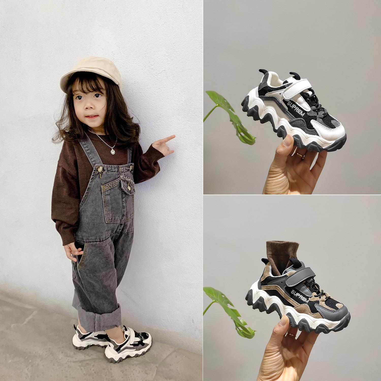 耐克运动鞋新款 帕耐克丝童鞋春季新款童鞋男童魔术贴潮运动鞋女童防滑休闲跑步鞋_推荐淘宝好看的女耐克运动鞋新款