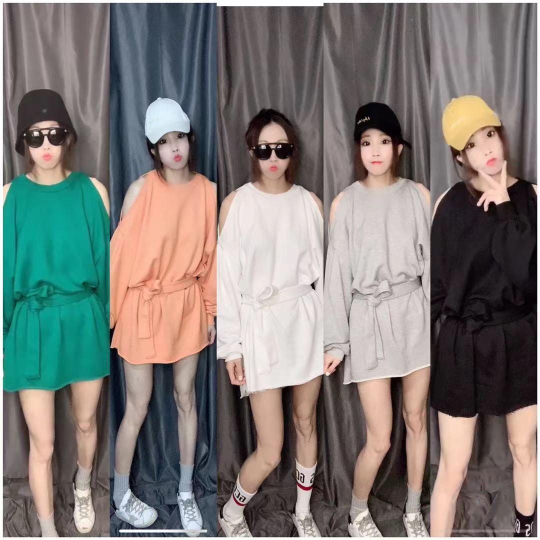 韩版套头卫衣 NingMeng2021秋季新品热卖hot韩版套头卫衣女中长款露肩宽松外套_推荐淘宝好看的女韩版套头卫衣