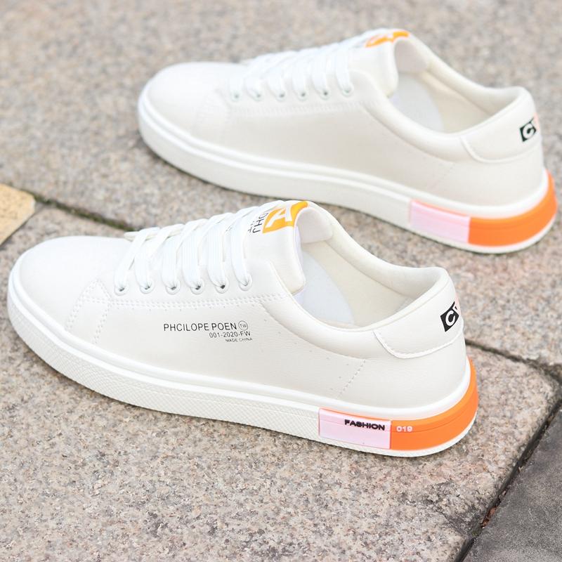 白色运动鞋 春夏新款男鞋透气小白鞋男士运动休闲鞋韩版百搭白色板鞋子男潮鞋_推荐淘宝好看的白色运动鞋