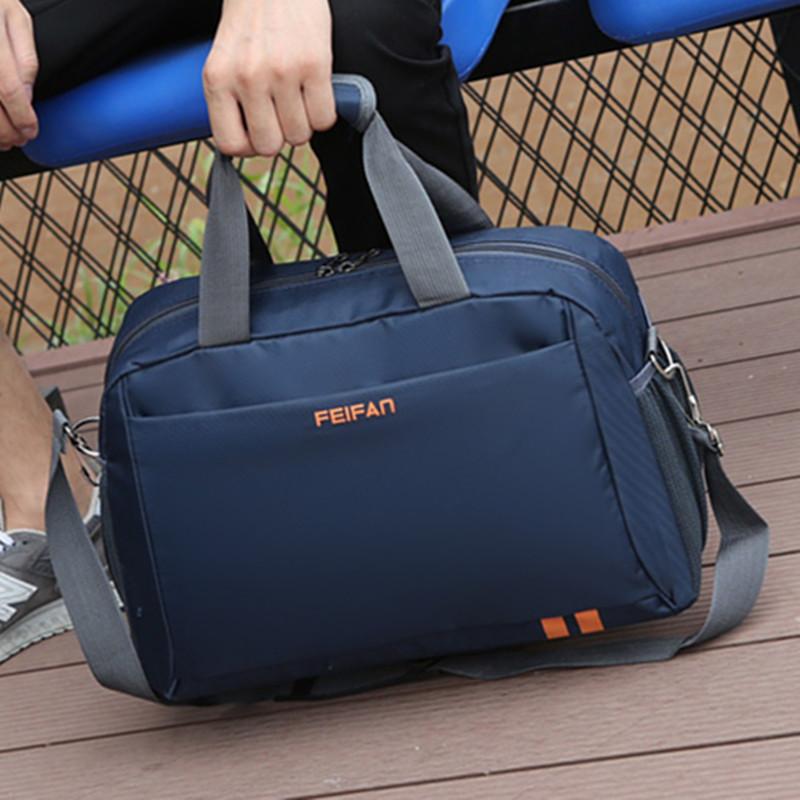 绿色手提包 韩版手提旅行包防水大容量男健身运动包女长短途行李袋单肩旅行袋_推荐淘宝好看的绿色手提包