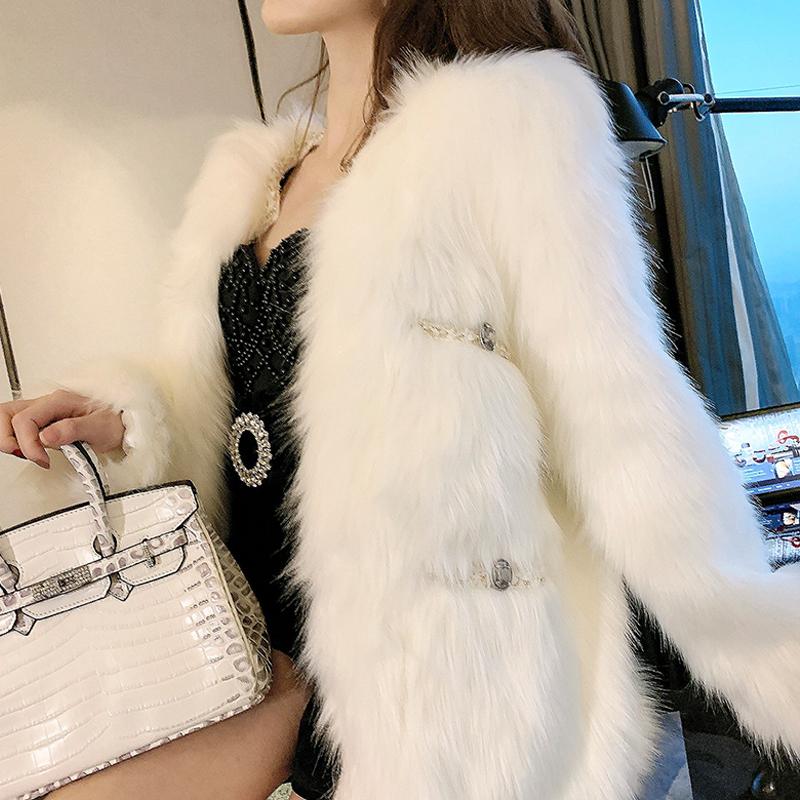 时尚冬装 守衣奴冬装女装新款时尚小香风洋气长袖皮草外套仿狐狸毛款式大衣_推荐淘宝好看的时尚冬装