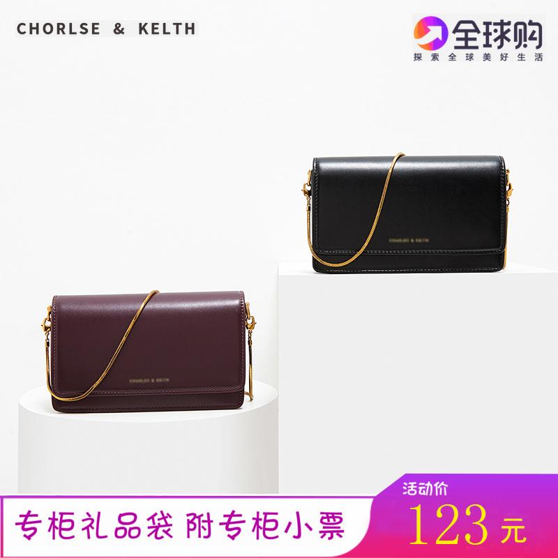 紫色链条包 新加坡小CK女包2019新款限量链条小方包欧美时尚单肩包斜跨风琴包_推荐淘宝好看的紫色链条包