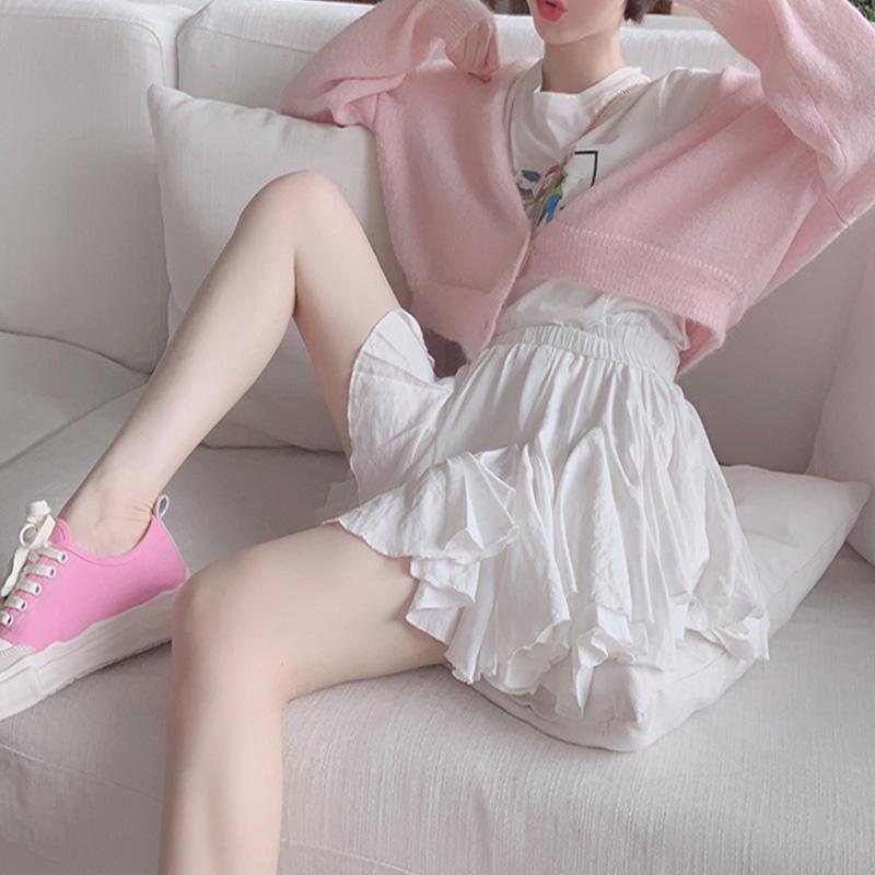 黑色半身裙 韩版时尚半身裙女春2019新款a字高腰百褶裙短裙_推荐淘宝好看的黑色半身裙
