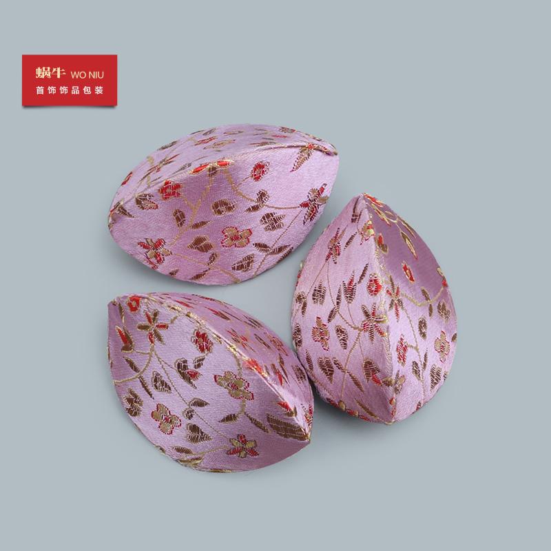 紫色迷你包 浅紫色迷你开口笑首饰包 创意三角零钱包古典饰品盒收纳包送老外_推荐淘宝好看的紫色迷你包