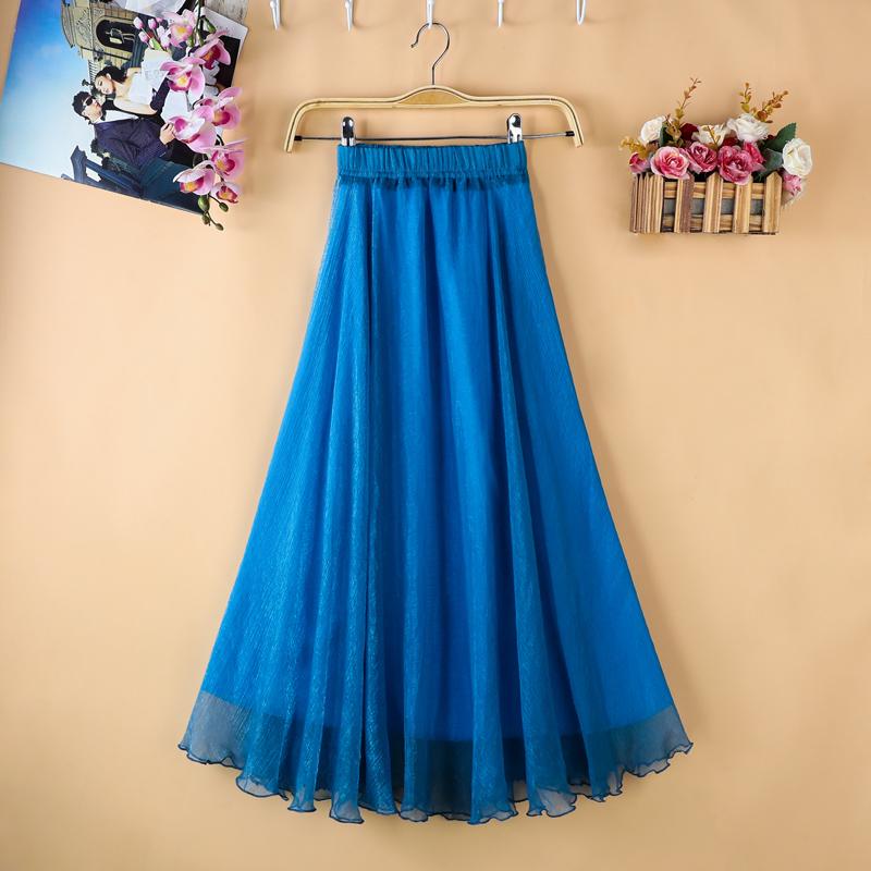 紫色半身裙 适合胯大的半身裙a字2020夏季新款小清新雪纺中长款小个子裙子_推荐淘宝好看的紫色半身裙