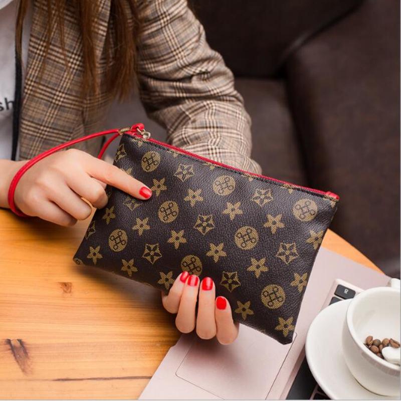手拿包 2019时尚女士长款拉链钱包印花大容量手机包潮百搭个性超薄手拿包_推荐淘宝好看的女手拿包