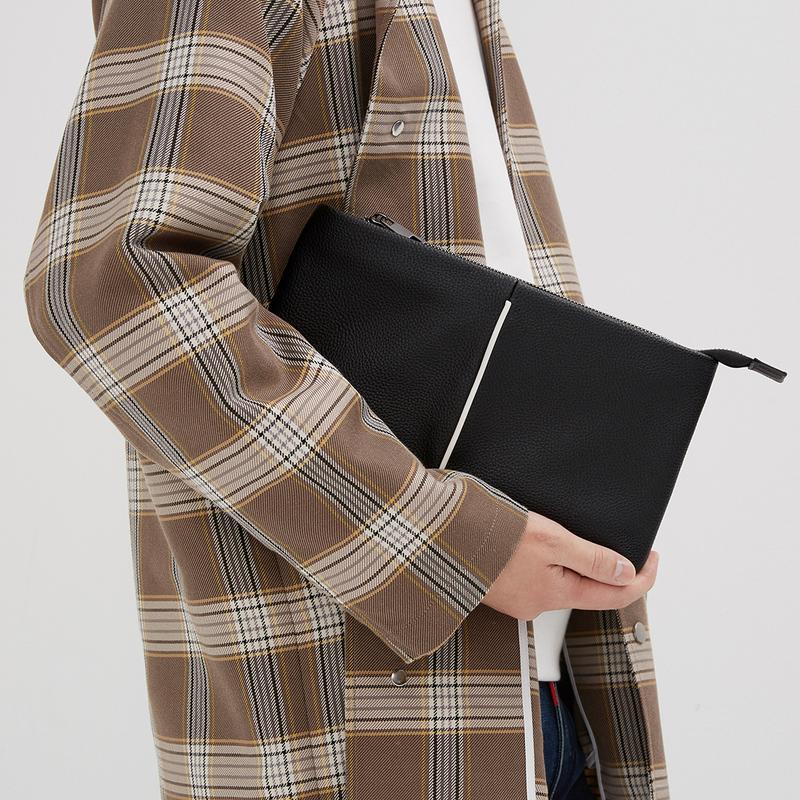 黑色手拿包 GXG手包男士休闲信封包大容量男款手拿包潮流黑色手包钱包_推荐淘宝好看的黑色手拿包