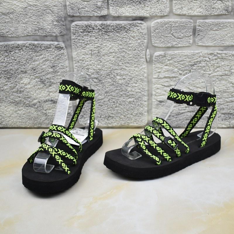 平跟罗马凉鞋 外贸女鞋厚底细带舒适潮休闲平跟罗马鞋凉鞋_推荐淘宝好看的女平跟罗马凉鞋