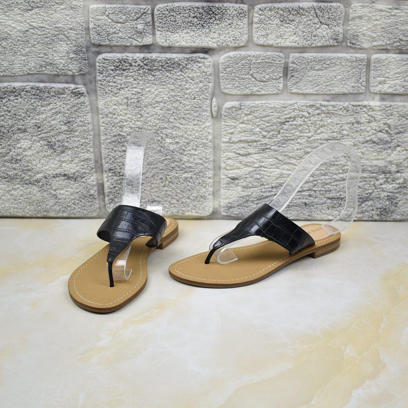 女士平底鞋 外贸女鞋夏季百搭平底鞋仙女风罗马复古夹趾时尚简约外穿_推荐淘宝好看的女平底鞋