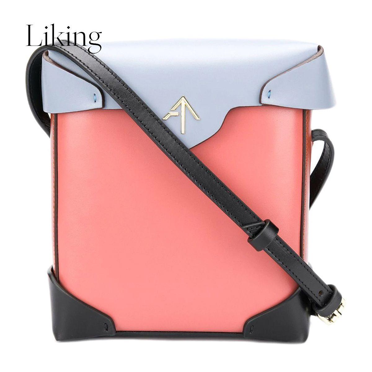 粉红色手提包 QH FW19 Manu atelier 女士粉红色手提包 2017667_推荐淘宝好看的粉红色手提包