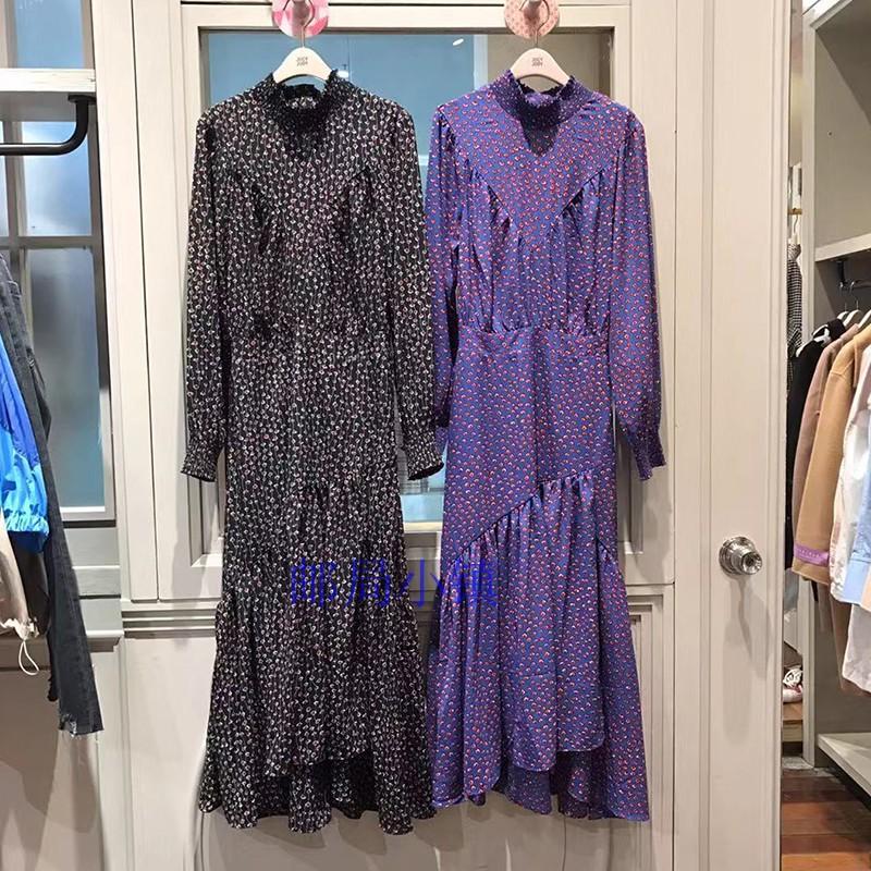 紫色连衣裙 JUCY JUDY2019秋季新品时尚雪纺碎花裙中长款女式连衣裙JTOP621K_推荐淘宝好看的紫色连衣裙