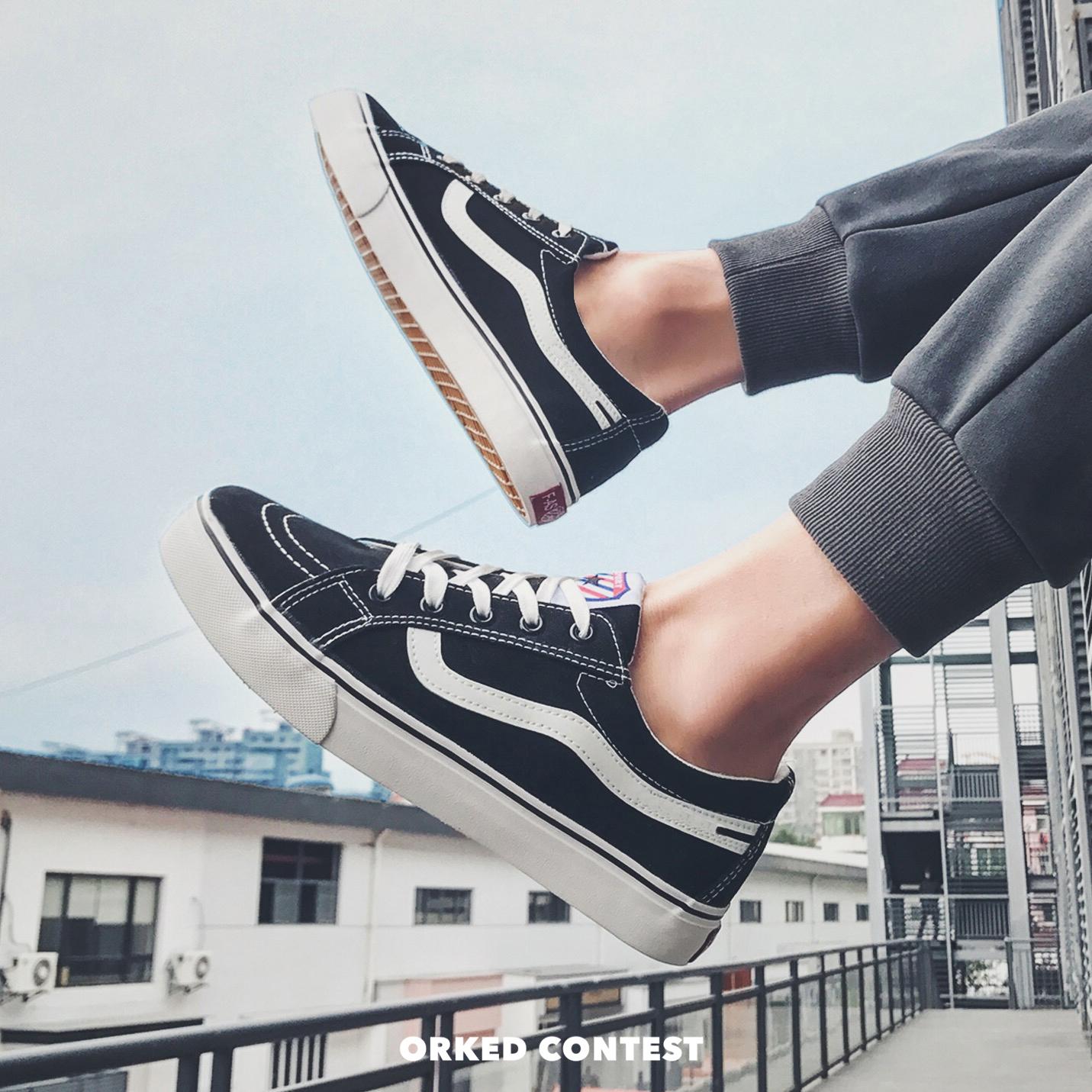 低帮帆布鞋 华仔穿搭 2020新款INS超火的低帮男鞋高帮帆布鞋女鞋经典鞋_推荐淘宝好看的女低帮帆布鞋