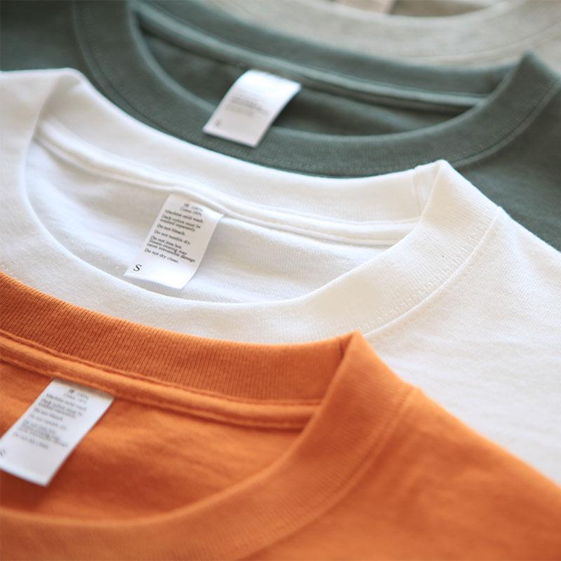 男士纯棉T恤 270g日系美式复古咔叽重磅无缝桶织纯棉男女打底圆领短袖T恤潮_推荐淘宝好看的男士纯棉T恤