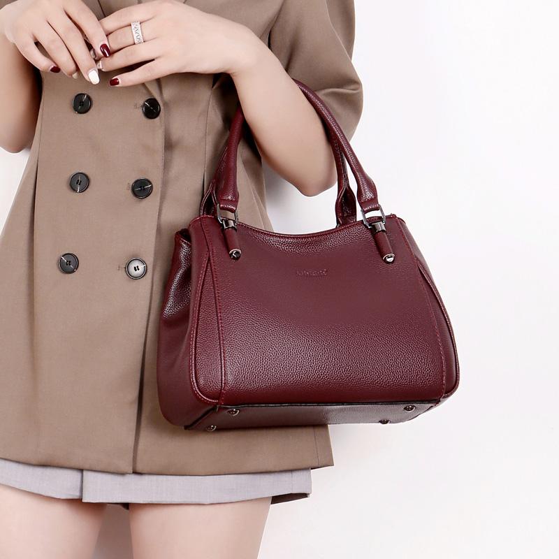 紫色斜挎包 女包2020新款时尚手提包大气大容量单肩斜挎包软皮真皮女士包包潮_推荐淘宝好看的紫色斜挎包
