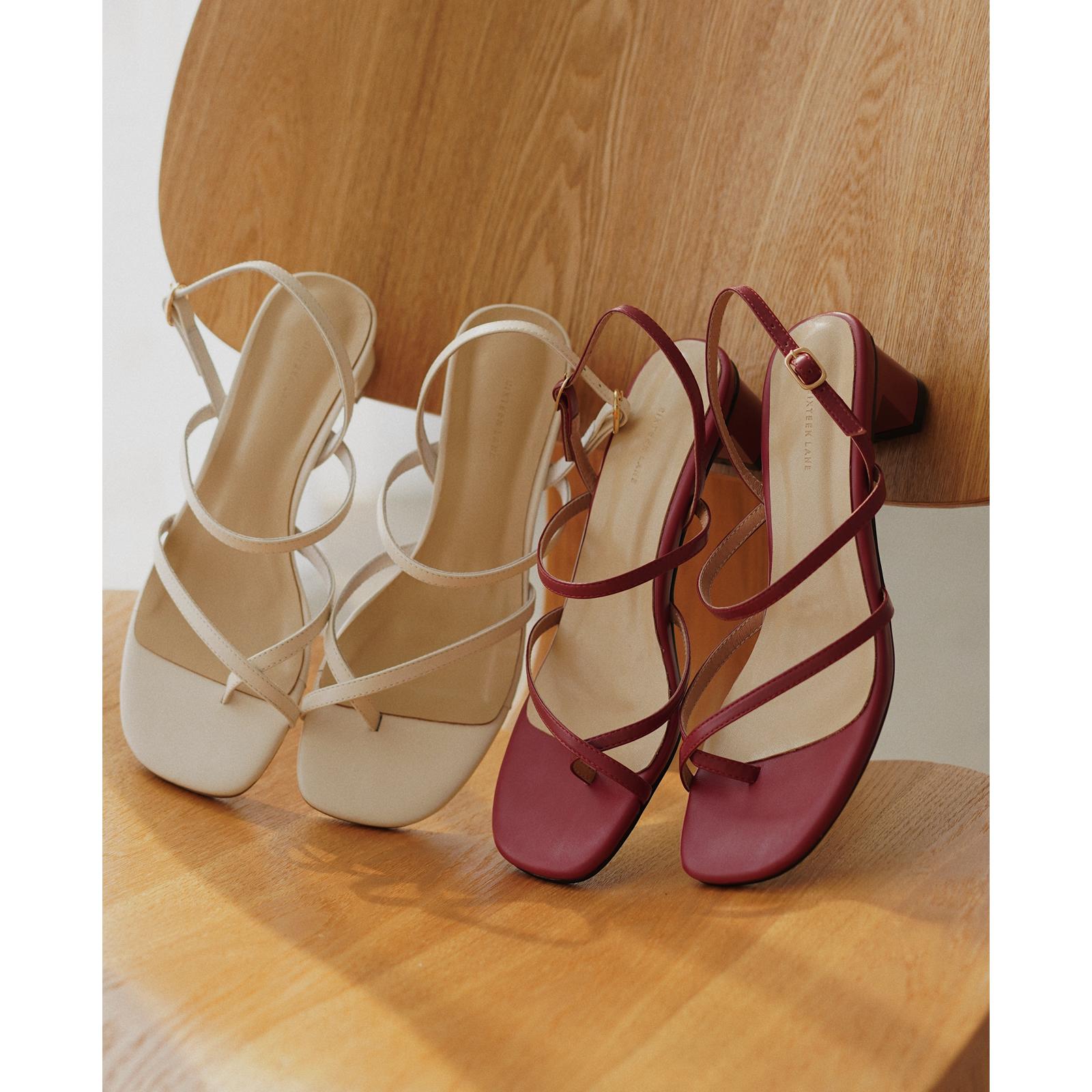 红色罗马鞋 十六巷凉鞋女仙女风2020夏季新款百搭中粗跟红色罗马_推荐淘宝好看的红色罗马鞋