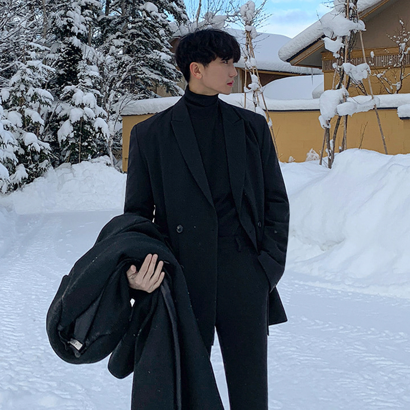 西装男 MRCYC冬季新款情侣小西装韩版休闲帅气单西西服宽松潮流男士外套_推荐淘宝好看的西装男