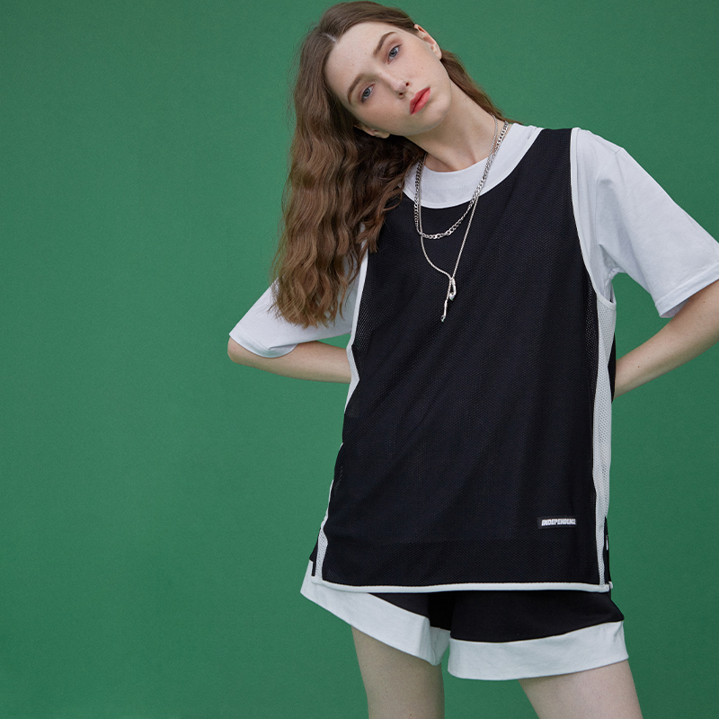 黑色背心 OG元素黑色篮球bf风工字型无袖运动背心女外穿宽松学生夏季薄款潮_推荐淘宝好看的黑色背心