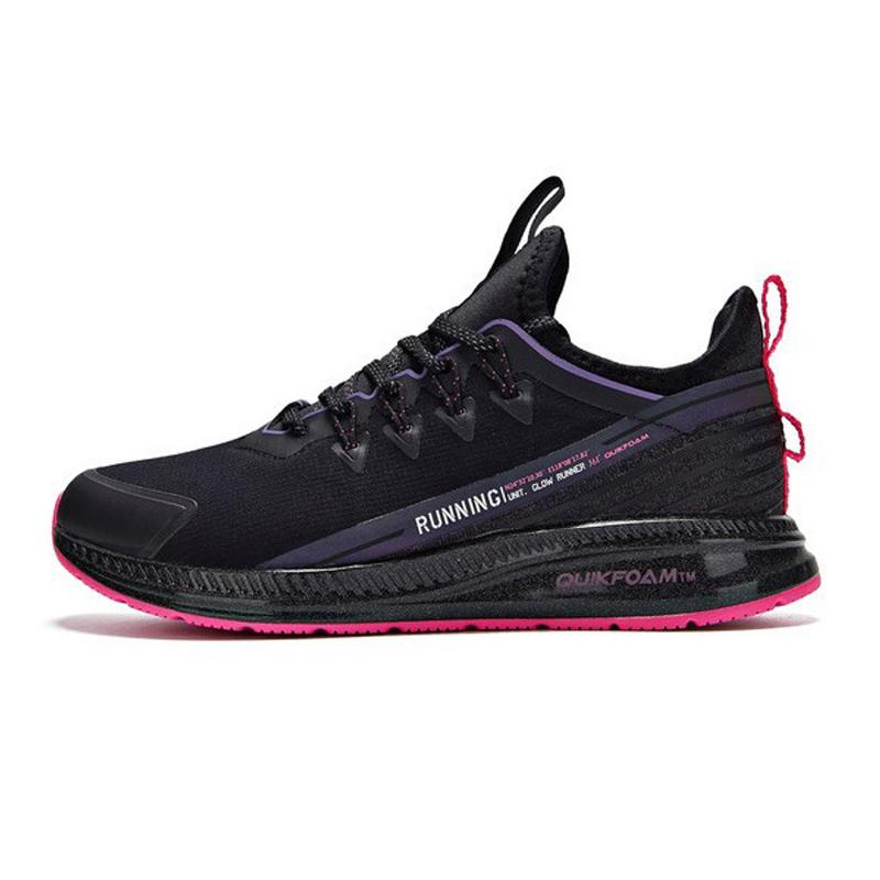 361度女款运动鞋 361度女鞋全黑色运动鞋 2020冬季网面减震轻便休闲鞋 弹力跑步鞋_推荐淘宝好看的女361度女运动鞋
