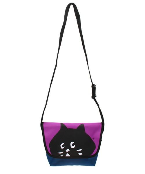 紫色斜挎包 新款热卖人气Ne-n*et 15秋冬女款紫色小黑猫拼色单肩斜挎包可批_推荐淘宝好看的紫色斜挎包