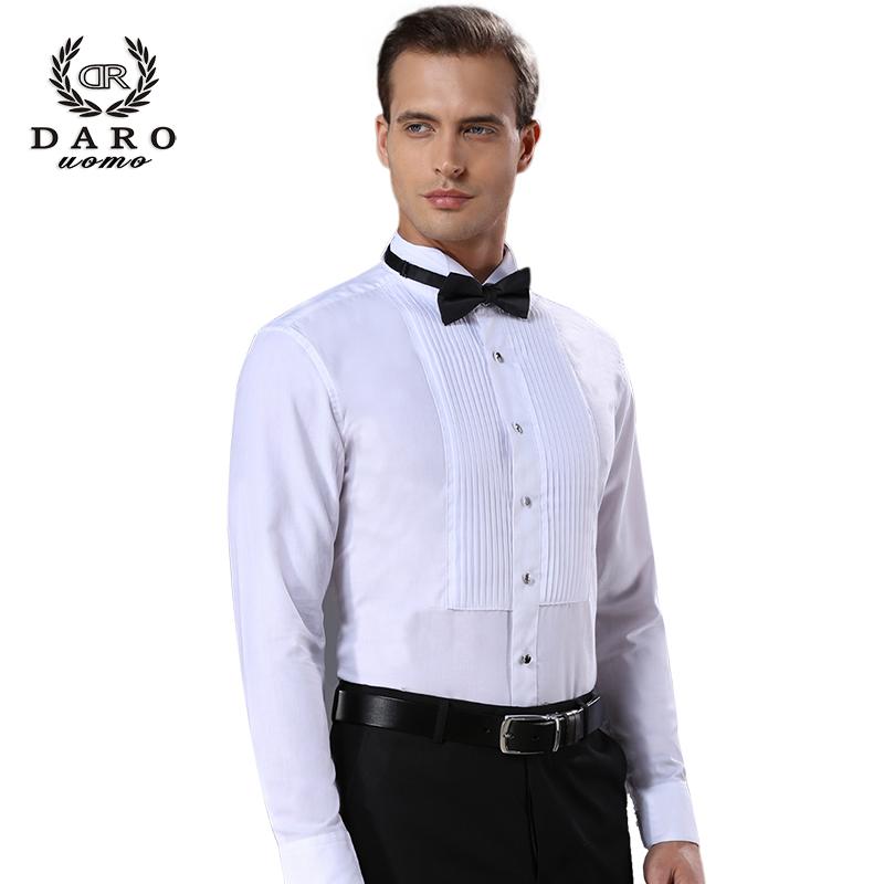 男士修身长袖衬衫 男士法式衬衫白色长袖修身伴郎新郎结婚礼服演出服燕子领结衬衣_推荐淘宝好看的男修身长袖衬衫