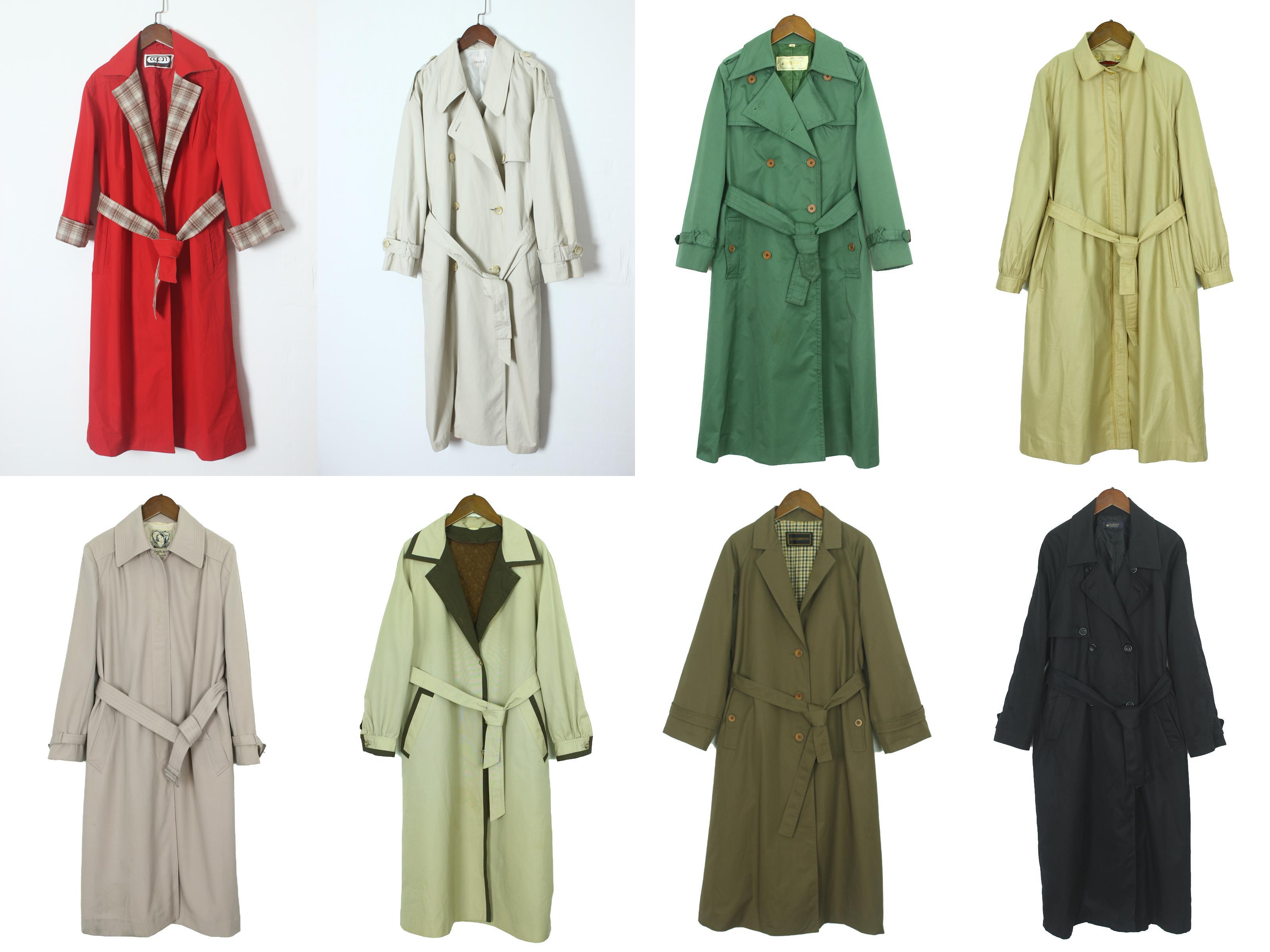 欧美系带风衣 vintage古着孤品大衣 尖货日本长款系带风衣 欧美英伦风衣女外套2_推荐淘宝好看的欧美系带风衣