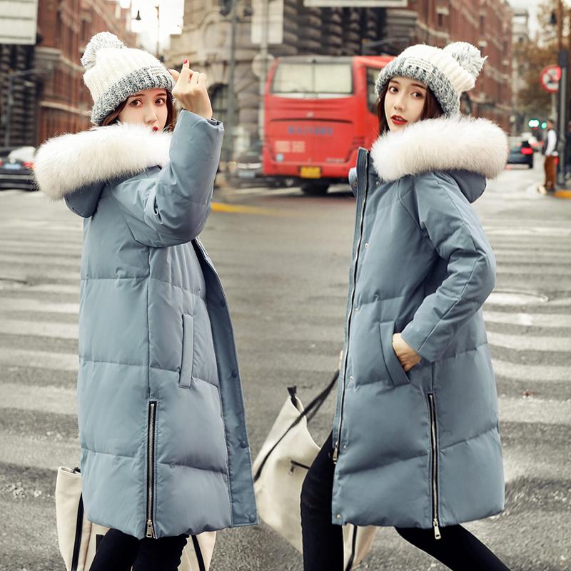 鸭鸭羽绒服 羽绒衣鸭鸭正品2020新款冬季女士羽绒服修身白鸭绒加厚保暖外套潮_推荐淘宝好看的女鸭鸭羽绒服