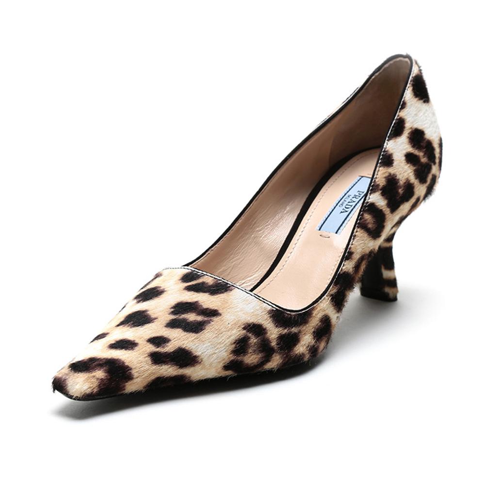 prada尖头鞋 【直营】Prada普拉达 女士短皮毛高跟鞋  F9C F 065尖头女鞋单鞋_推荐淘宝好看的女prada尖头鞋
