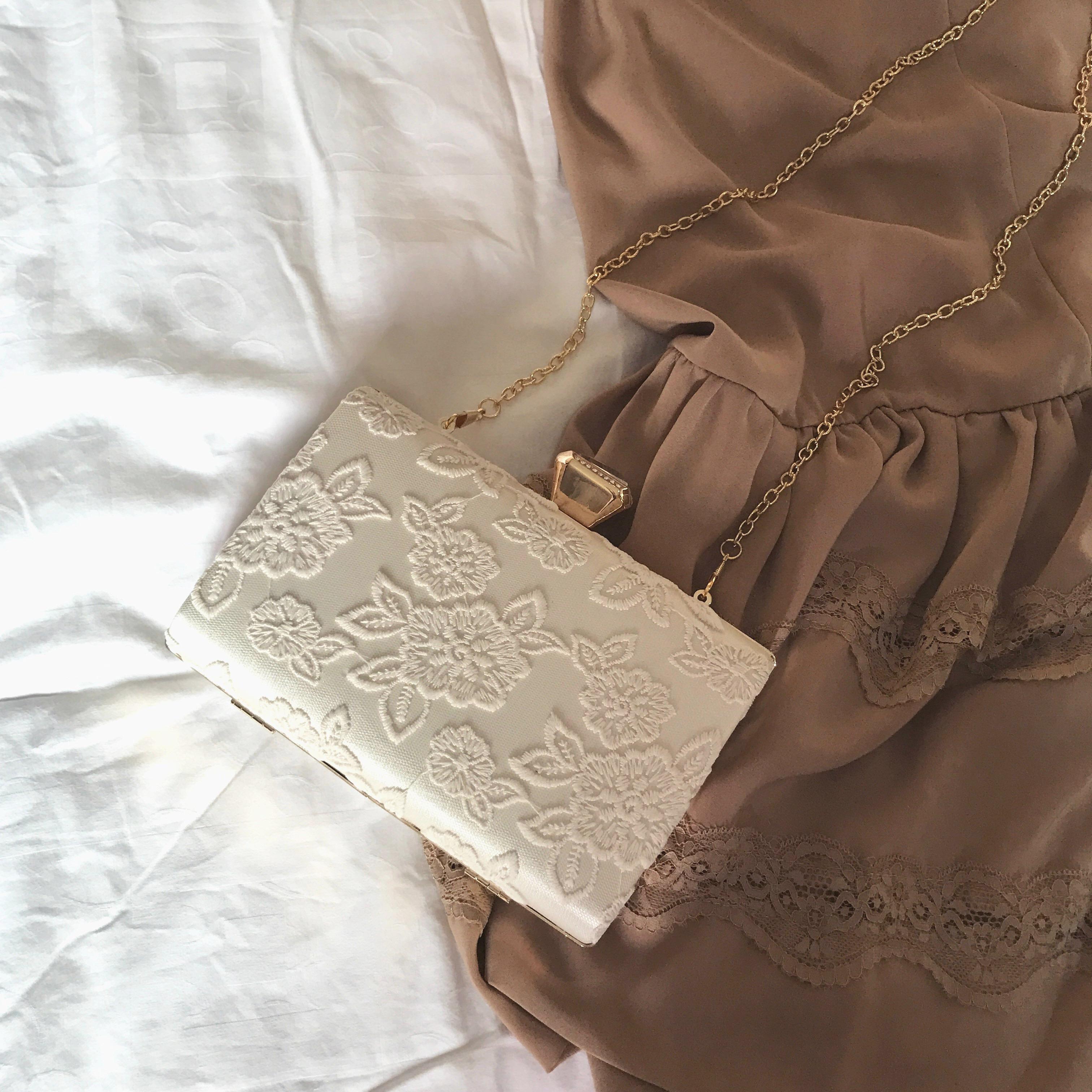 链条包 外贸 vintage古董古着风复古蕾丝绣花女士单肩斜跨链条小方包百搭_推荐淘宝好看的女链条包
