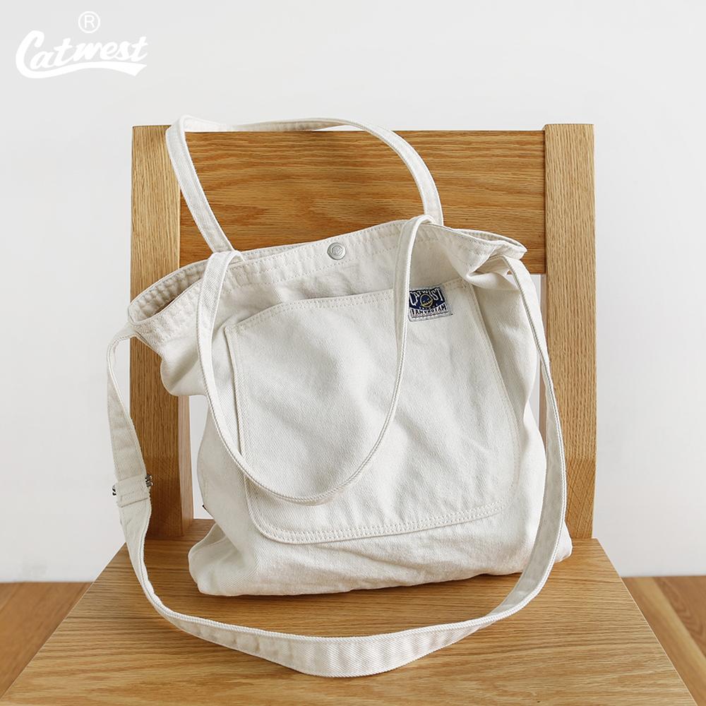 白色复古包 猫西原创设计复古斜挎包单肩包男女款背包旅行休闲包白色帆布包新_推荐淘宝好看的白色复古包