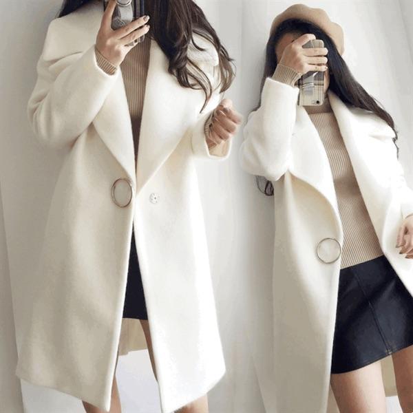 韩版毛呢女装 2020春冬季新款韩版女装加厚羊毛呢外套女修身大码中长款呢子大衣_推荐淘宝好看的韩版毛呢女装