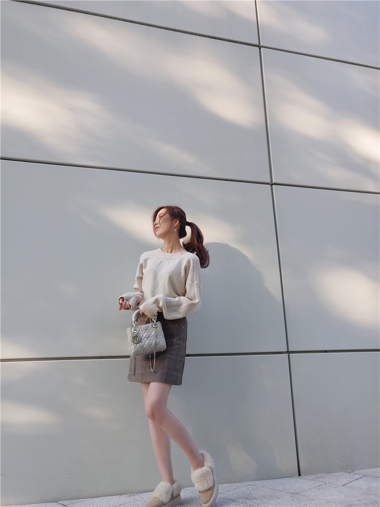 半身裙 仙境爱丽丝 口袋半身裙 格子毛呢高腰a字包臀打底短裙_推荐淘宝好看的半身裙