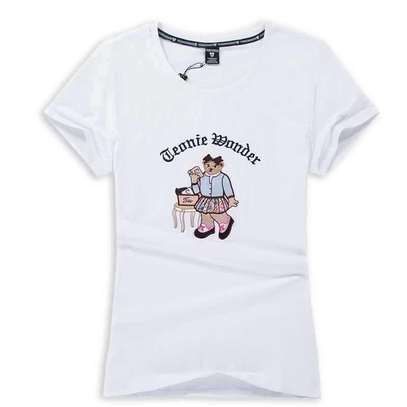 纯棉大嘴猴t恤 2020新款夏季t恤 纯棉半袖女修身短袖韩版半袖白色大嘴小熊猴维尼_推荐淘宝好看的女纯棉大嘴猴t恤