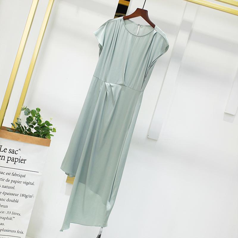 真丝连衣裙 HYL香港设计师品牌 重磅桑蚕丝  真丝 高级光泽感连衣裙_推荐淘宝好看的真丝连衣裙