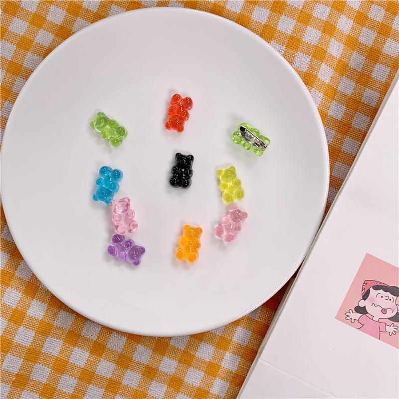 日系糖果包 ins风日系糖果色透明小熊胸针迷你徽章配饰书包挂件装饰小别针女_推荐淘宝好看的日系糖果包