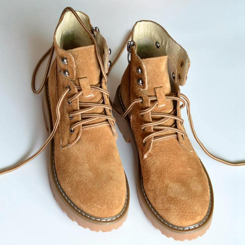英伦短靴 Feel全皮复古潮英伦风马丁靴短靴女春夏女靴学生工装靴情侣靴粗跟_推荐淘宝好看的女英伦短靴