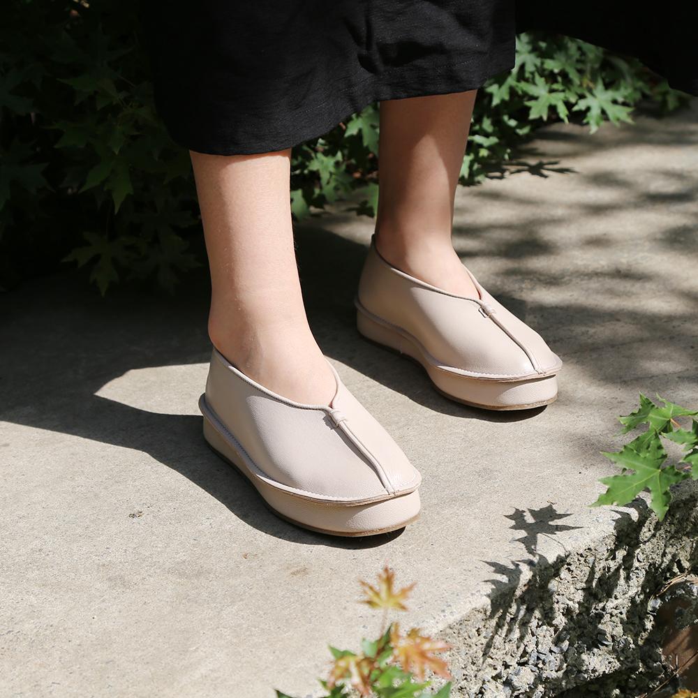 女式平底鞋 YTM舒适体验款纯皮手工鞋经典款软底女鞋平底中国风民族配饰皮鞋_推荐淘宝好看的女平底鞋
