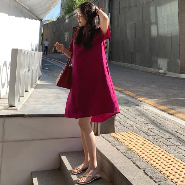 淘宝网连衣裙 2021夏季新款休闲短袖中长款宽松娃娃裙女遮肚显瘦棉麻A字连衣裙_推荐淘宝好看的连衣裙