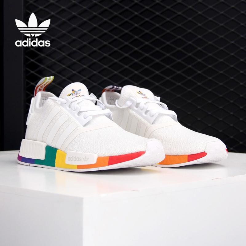 阿迪达斯运动鞋 Adidas阿迪达斯正品 三叶草新款NMD_R1 PRIDE男女运动鞋 FY9024_推荐淘宝好看的女阿迪达斯运动鞋
